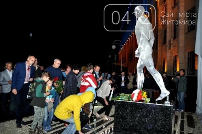 У Житомирі відкрили пам'ятник Героям Небесної Сотні, фото-10