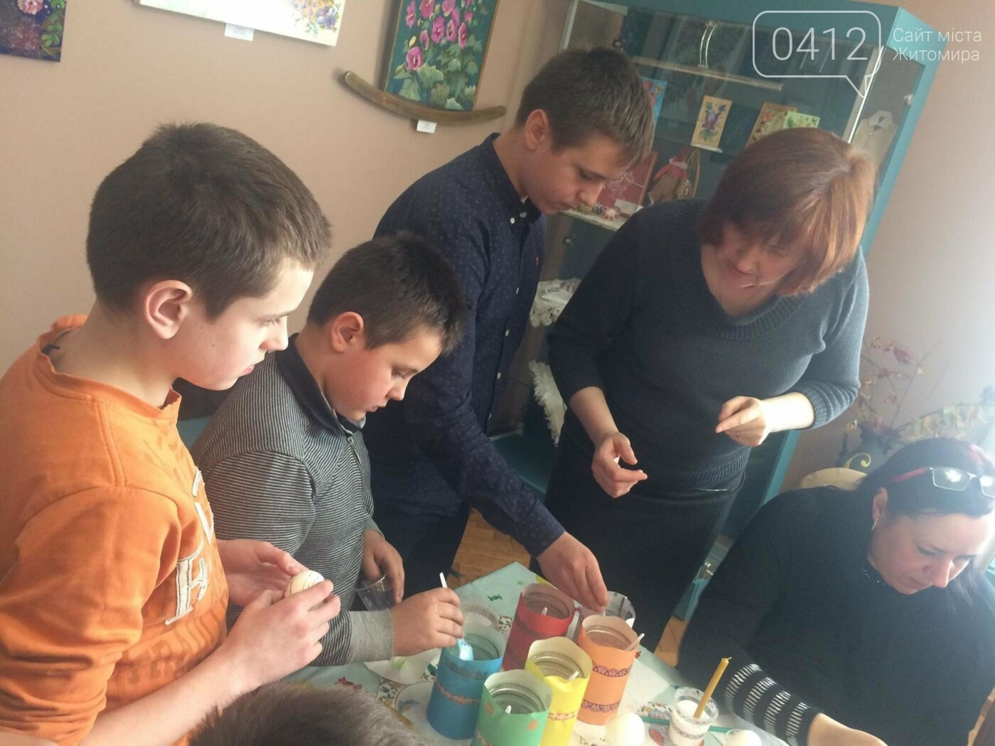 У Житомирі провели майстер-клас з писанкарства для дітей учасників АТО, фото-4