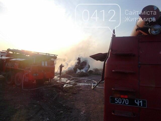 В Овручі загорілась вантажівка з соломою, фото-4