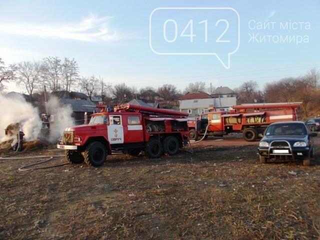 В Овручі загорілась вантажівка з соломою, фото-3