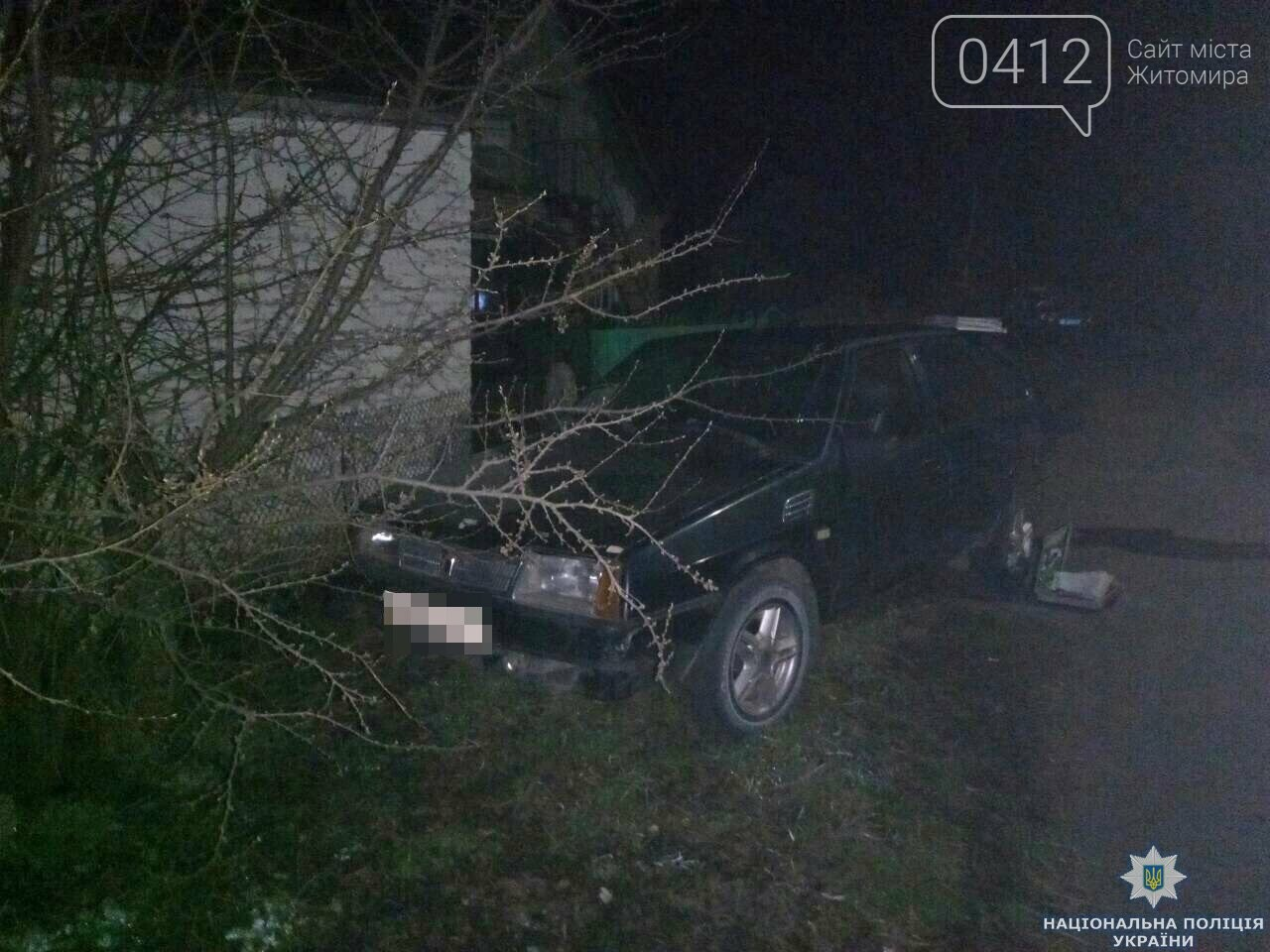 На Житомирщині підозрюваний в угоні «дев'ятки» попався у руки поліції верхи на викраденому мотоблоці, фото-2