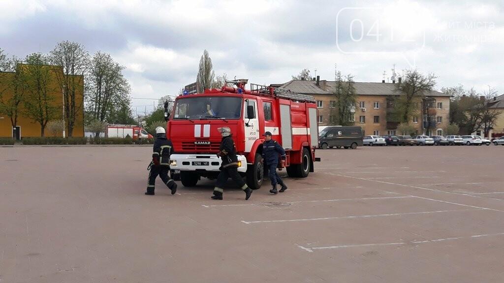 Житомирські вогнеборці ліквідували умовну пожежу в кінотеатрі «Мультиплекс», фото-4