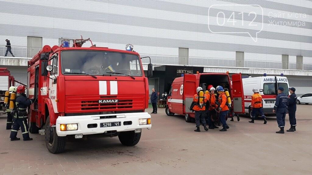 Житомирські вогнеборці ліквідували умовну пожежу в кінотеатрі «Мультиплекс», фото-15
