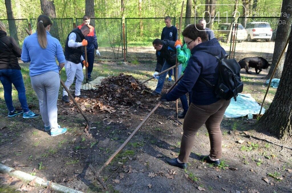 Житомирський виконком прибирав територію дитячого табору «Супутник», фото-2