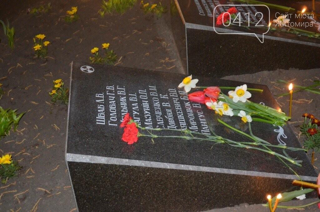 До 32-ї річниці аварії на ЧАЕС у Житомирі відбувся вечір-реквієм, фото-2
