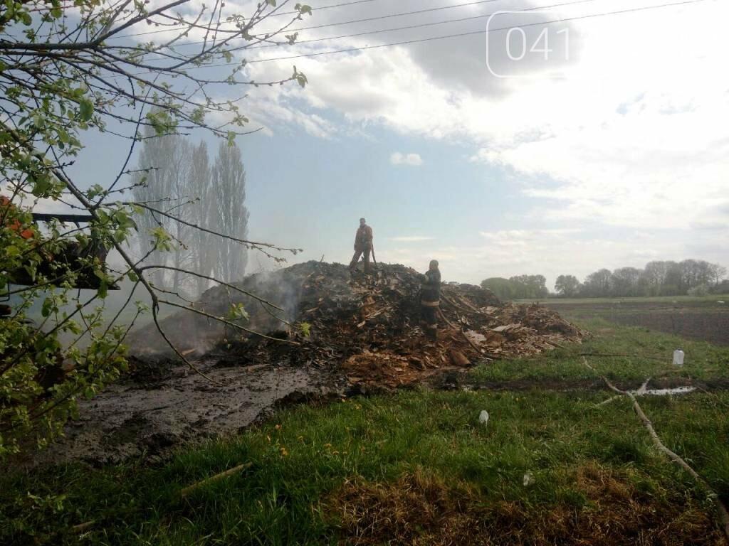 Шість годин рятувальники долали пожежу на підприємстві під Бердичевом, фото-1