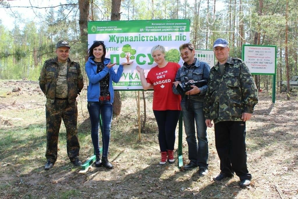 На Житомирщині журналісти висадили ще одну, вже 9-у, ділянку лісу, фото-2