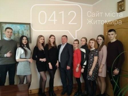 Майбутні медики Житомирщини переймали досвід у посадовців області, фото-2