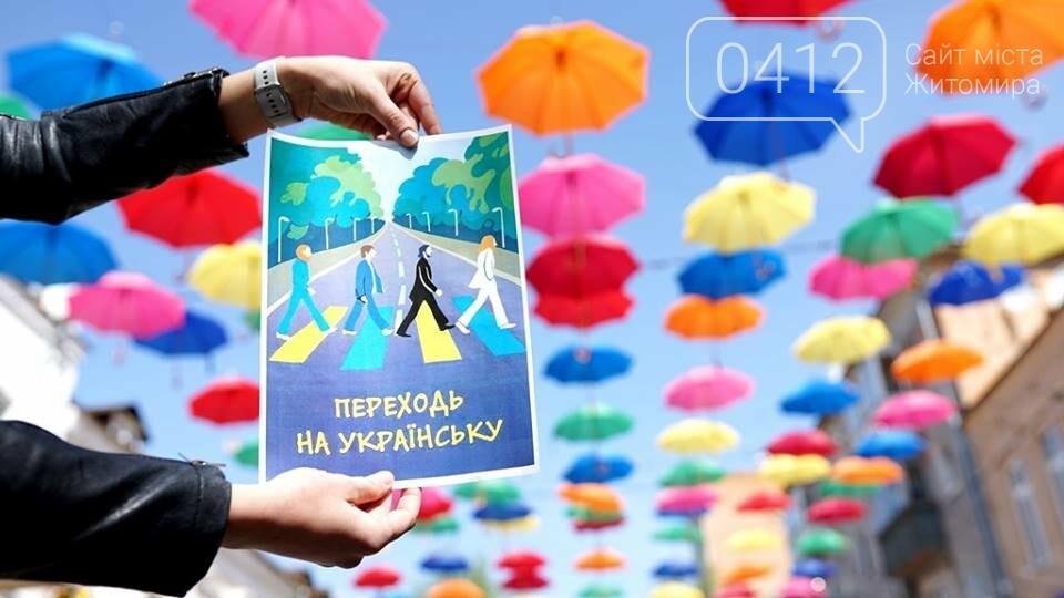 У Житомирі відбувся флешмоб на підтримку мовного закону, фото-5