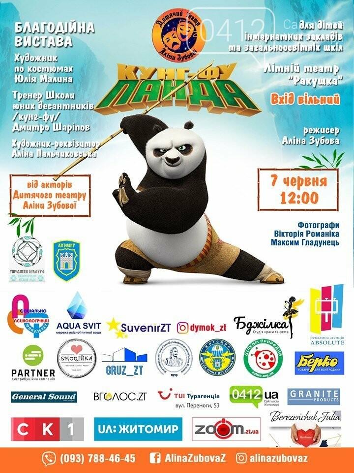 У Житомирі відбудеться благодійна вистава Панда кунг-фу, фото-1