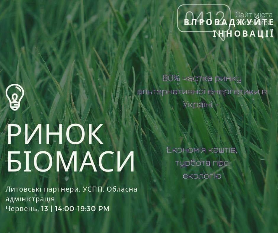 """У Житомирі відбудеться українсько-литовський семінар """"Розвиток ринку біомаси. Експорт"""", фото-1"""