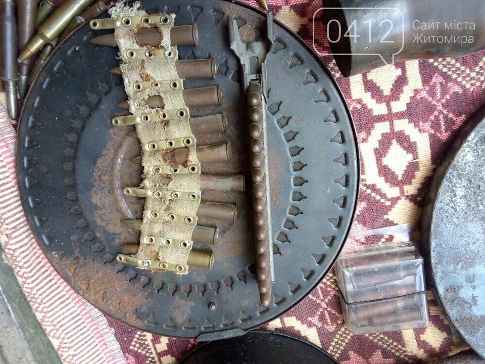На Житомирщині чоловік зробив колекцію боєприпасів часів Другої світової, фото-5