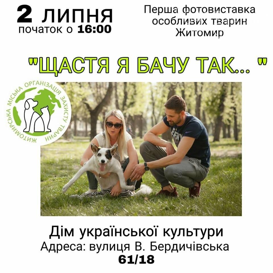У Житомирі презентують фотовиставку, присвячену тваринам з інвалідністю, фото-1