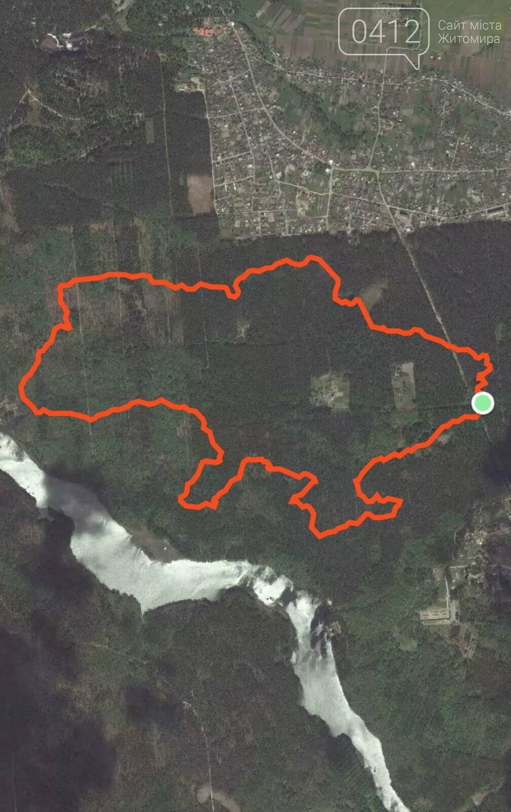Житомирські спортсмени пробігли маршрутом, що нагадує контур України, фото-1