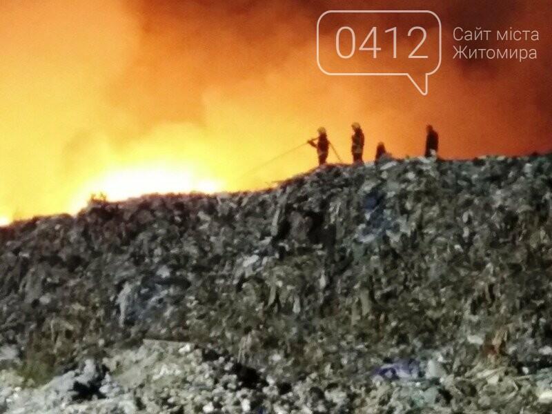 У Житомирі горіло сміттєзвалище площею 400 кв. м, фото-1
