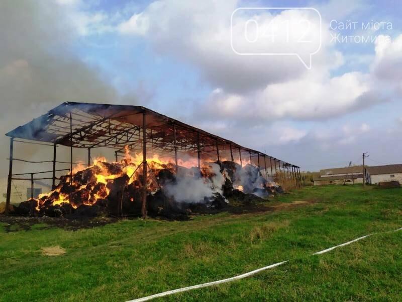 У Любарському районі вогнеборці ліквідували загоряння сінника, фото-3