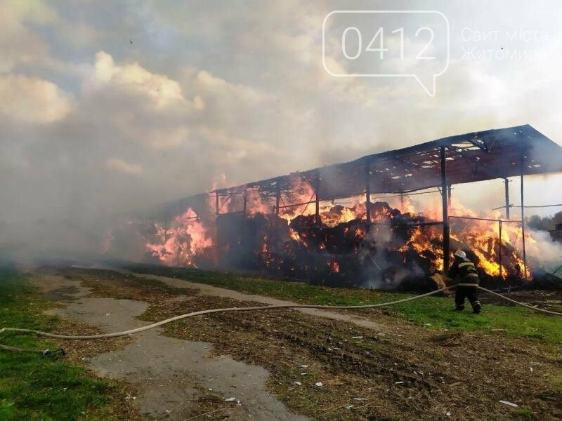 У Любарському районі вогнеборці ліквідували загоряння сінника, фото-4