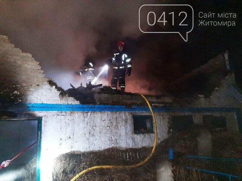 У Ружинському районы вогнеборці ліквідували загоряння господарчої будівлі та врятували від займання дім, фото-1
