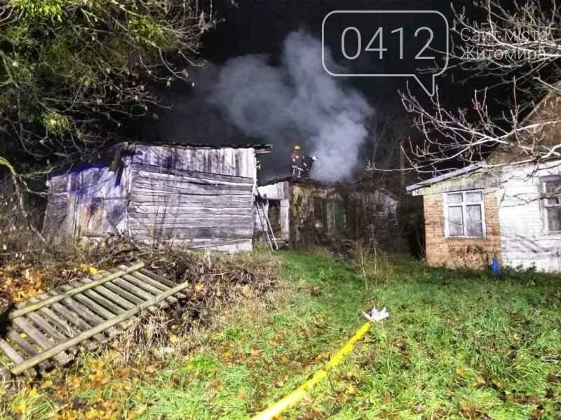 У Житомирському районі ліквідували пожежу у господарчій будівлі, фото-1