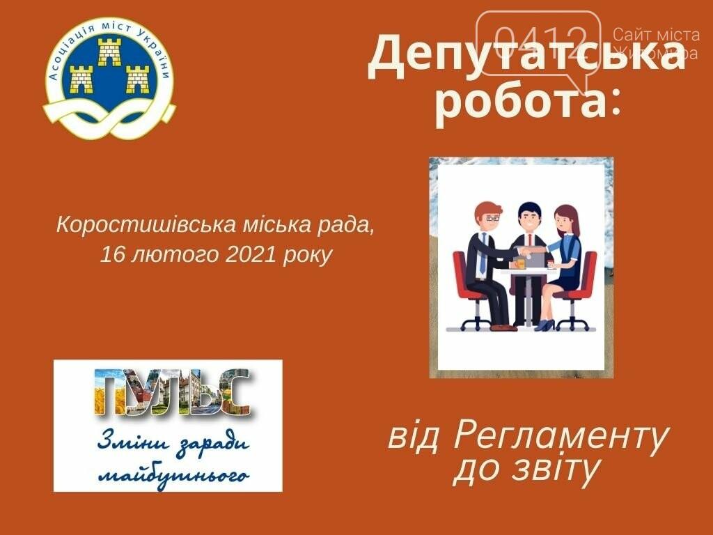Коростишівська міська рада – учасник проєкту «Школа депутата», фото-1