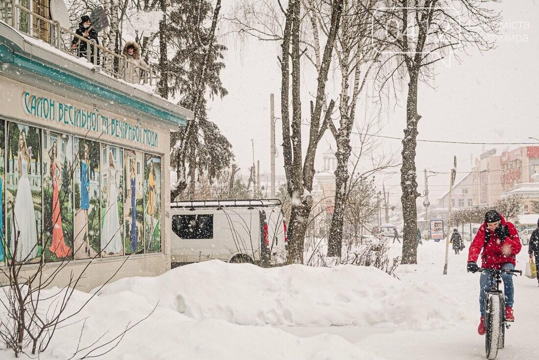 У ритмі зимового міста: колорит засніжених вулиць Житомира. ФОТО, фото-11