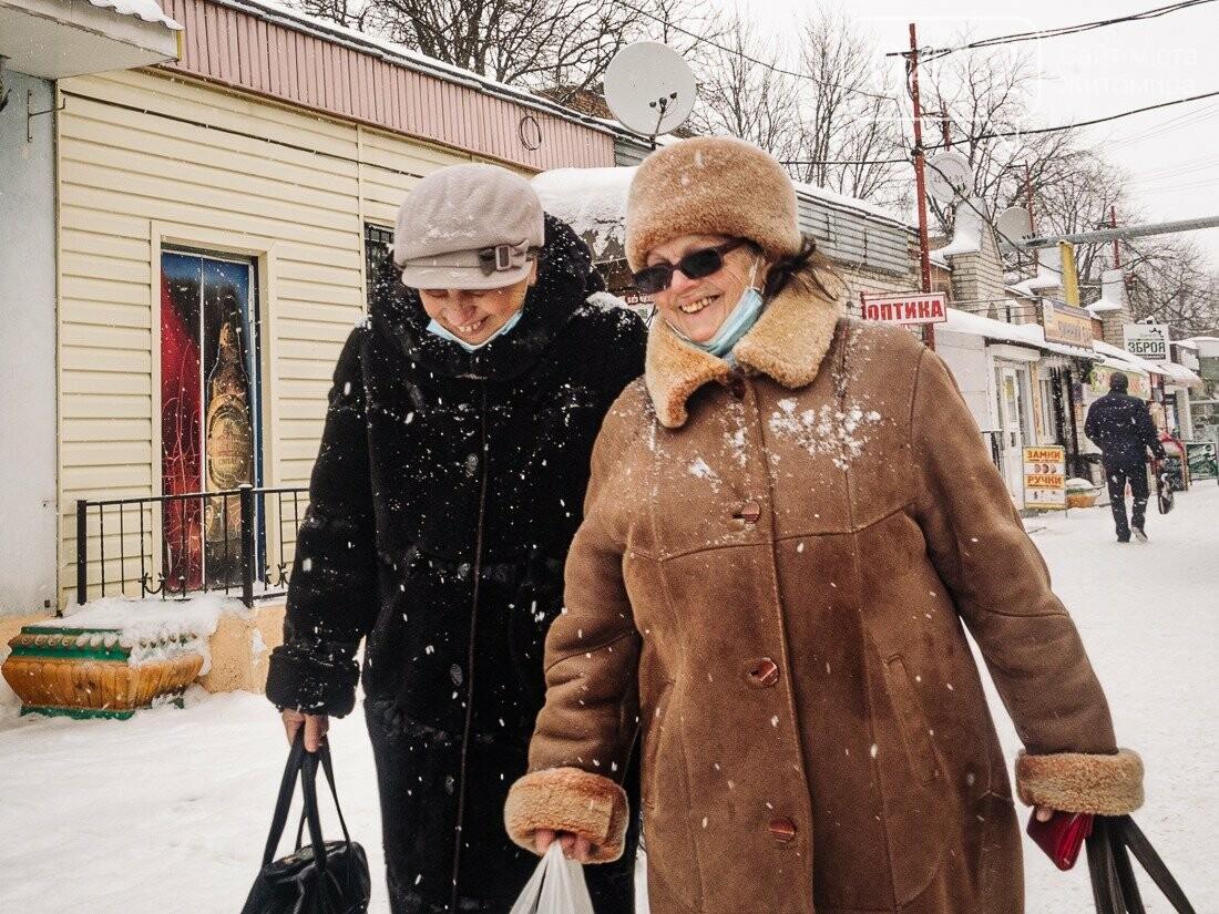 У ритмі зимового міста: колорит засніжених вулиць Житомира. ФОТО, фото-14