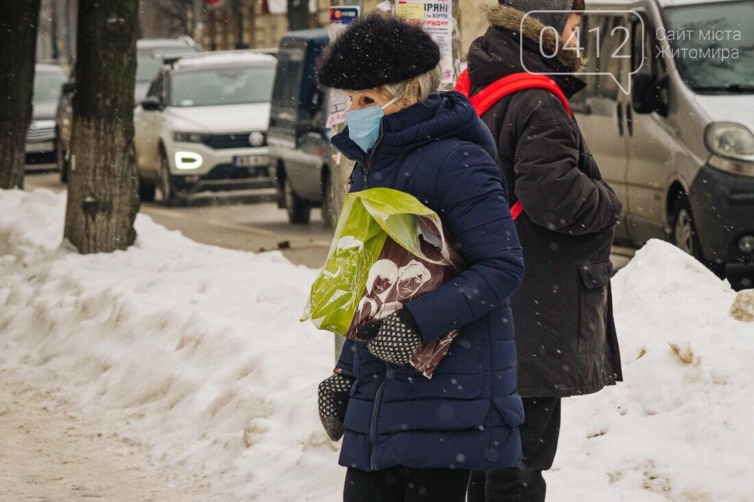 У ритмі зимового міста: колорит засніжених вулиць Житомира. ФОТО, фото-19