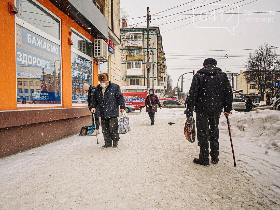 У ритмі зимового міста: колорит засніжених вулиць Житомира. ФОТО, фото-2