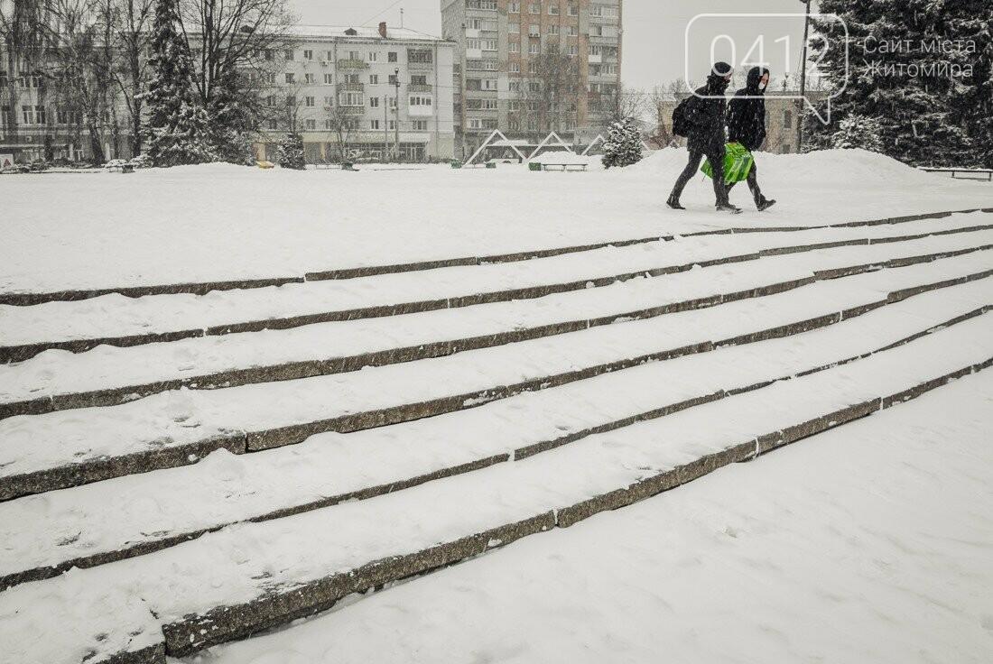 У ритмі зимового міста: колорит засніжених вулиць Житомира. ФОТО, фото-9