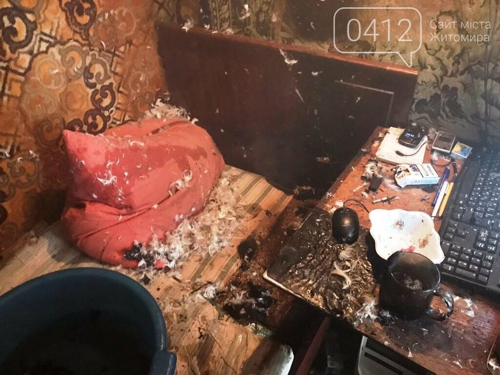 На Житомирщині вогнеборці врятували на пожежі чоловіка, фото-1
