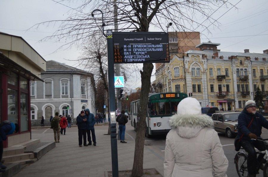 У Житомирі встановили табло з прогнозом громадського транспорту (адреси), фото-4