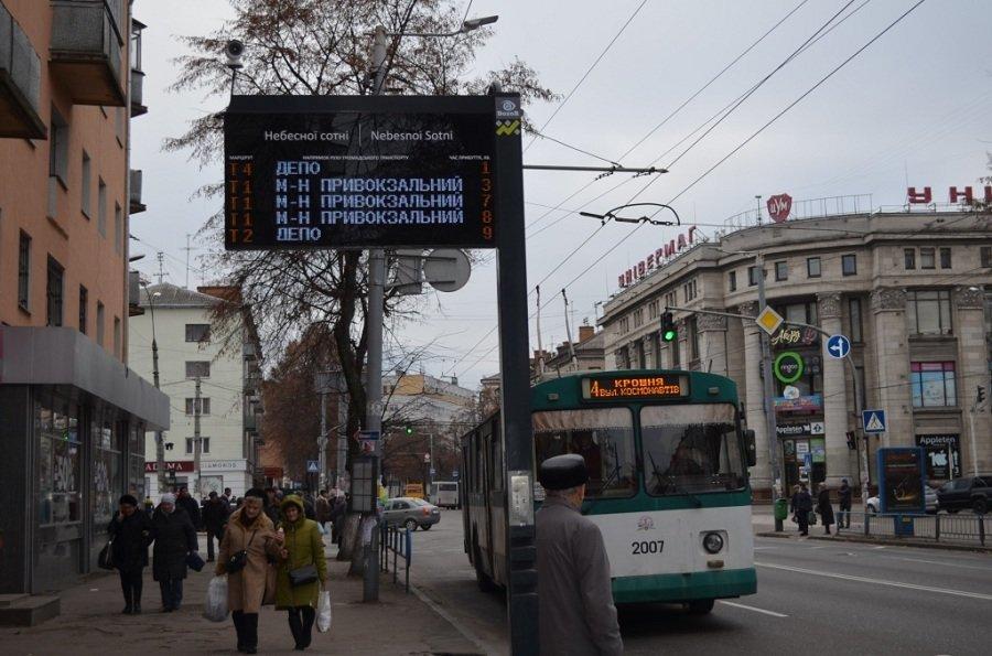 У Житомирі встановили табло з прогнозом громадського транспорту (адреси), фото-3