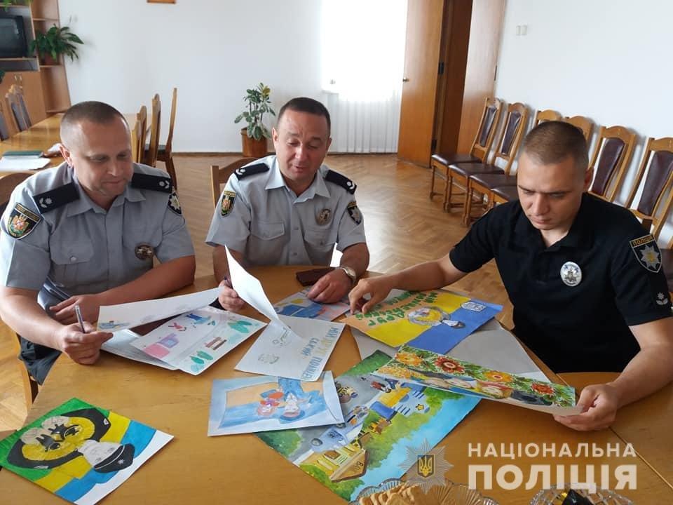 Поліція Житомирщини готується до фіналу конкурсу дитячого малюнку в ролі жюрі, фото-1