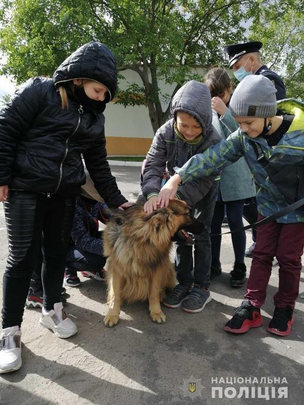 До житомирських поліцейських кінологів в гості завітали школярі, фото-6